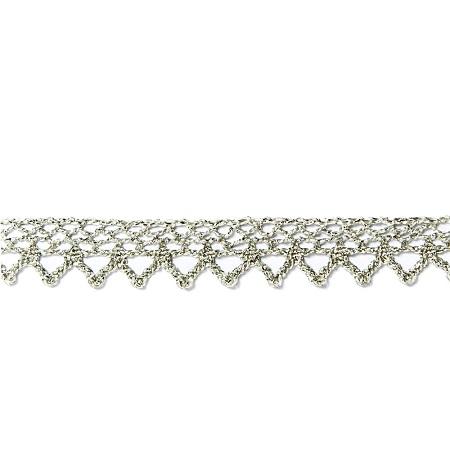 Garniture - Antique Metallic Silver Lace GAR-2715