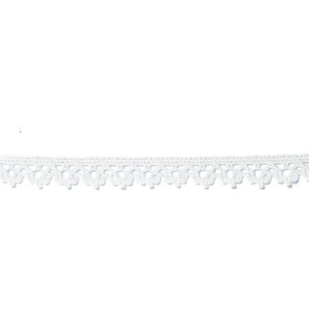 Garniture - 1/4 inch Cotton Lace 1010 White