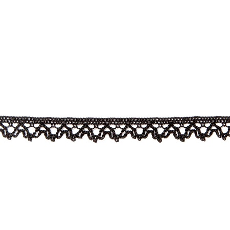 Garniture - 1/4 inch Cotton Lace 1009 Black
