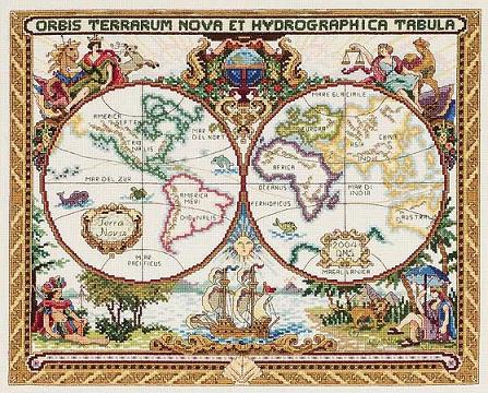 Old World Map by Janlynn