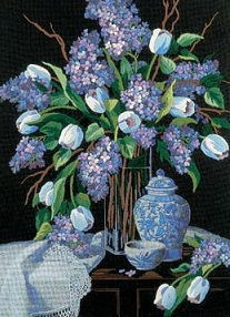 Lilacs and Lace-1529- by Dimensions