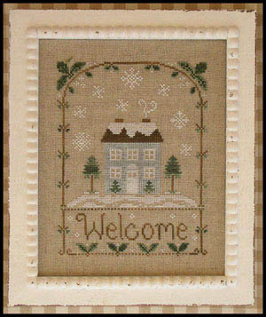 Winter welcome by Country Cottage Needleworks