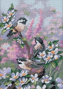 Chickadees in Spring-06884- by Dimensions