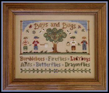 Boys and Bugs by Country Cottage Needleworks