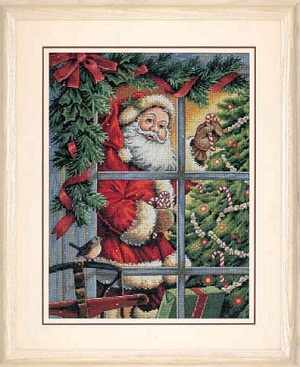 Candy Cane Santa-08734- by Dimensions