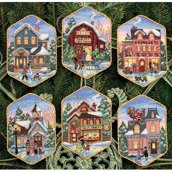 Christmas Village Ornaments-08785- by Dimensions