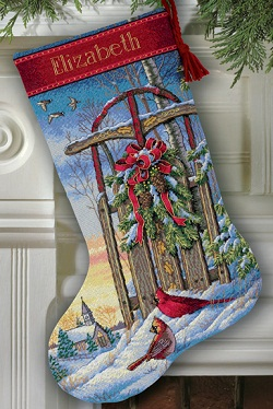 Christmas Sled Stocking-08819- by Dimensions