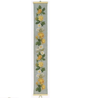 Yellow roses bellpull by Eva Rosenstand