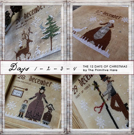 12 Days of Christmas (Days 1-4) by The Primitive Hare