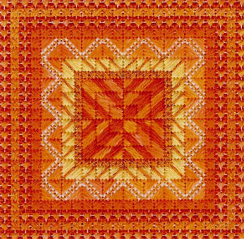 Color delights- Tangerine by Needle Delights Originals