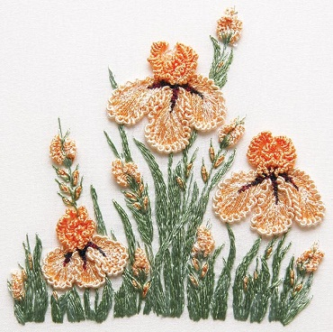 Iris Patch Embroidery Kit by EdMar