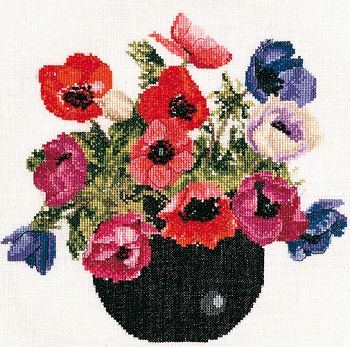 Bowl of Anemones by Thea Gouverneur