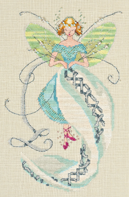 Stitching Fairies-Linen Fairy by Nora Corbett