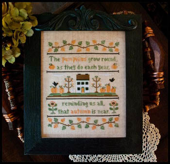 Autumn pumpkins by Country Cottage Needleworks