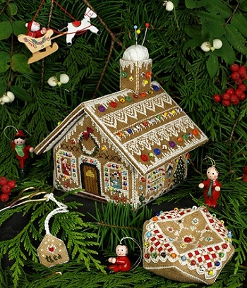 Gingerbread Stitching House by The Victoria Sampler