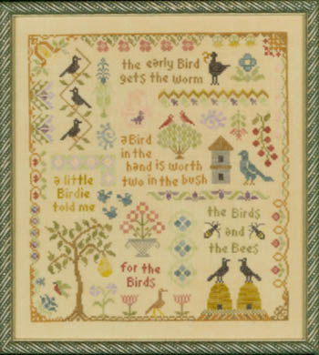 Elizabeth's Designs Needlework Antique Bird Sampler