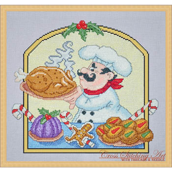 Christmas Chef by Cross Stitching Art