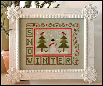 Winter snow by Country Cottage Needleworks