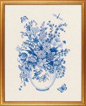 Blue Floral by Eva Rosenstand