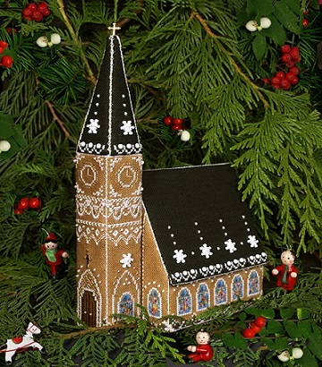 Gingerbread Church by The Victoria Sampler