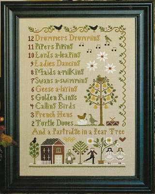 12 days of Christmas by Little House of Needlework