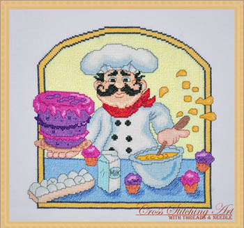 Baker chef by Cross Stithing Art
