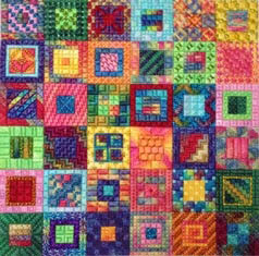 Calypso Squares by Needle Delights Originals