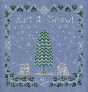 Elizabeth's Designs Needlework Snow Berry Sampler