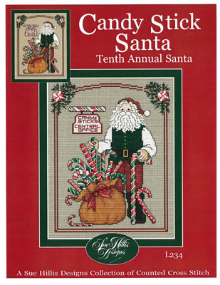 Candy stick Santa by Sue Hillis Designs