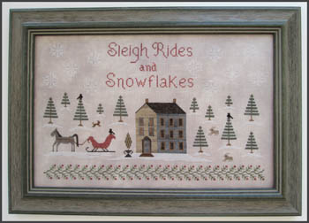 The Scarlet House Sleigh ride and snowflakes