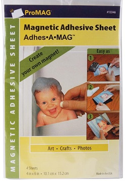 ProMag Adhesive Magnetic Sheet,13346