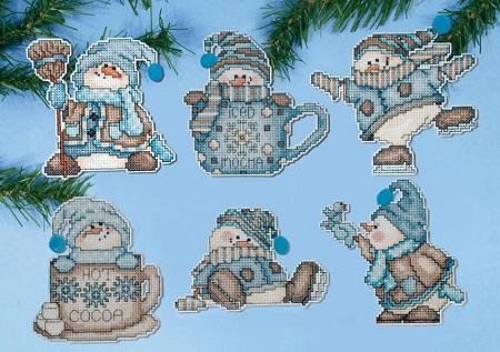 Cocoa snowmen by Design Works