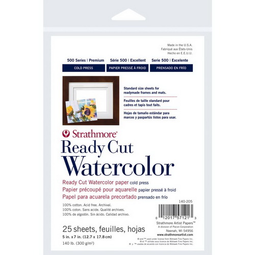"Strathmore Watercolor Paper Pack 5""X7"" 25 Sheets"