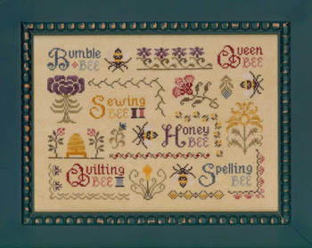 Elizabeth's Designs Needlework Antique Bee Sampler