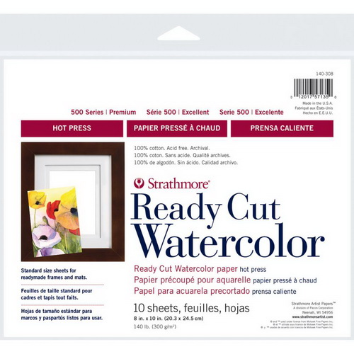 "Strathmore Watercolor Paper Pack 8""X10"" 10 Sheets"