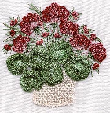 EdMar Geraniums Embroidery Kit
