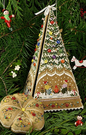 Gingerbread Tree Etui by The Victoria Sampler
