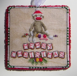 Sock Monkey Christmas by Blackberry Lane Designs