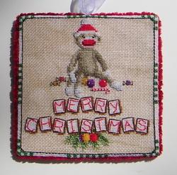 Blackberry Lane Designs Sock Monkey Christmas