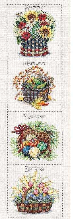 Seasonal baskets by Janlynn