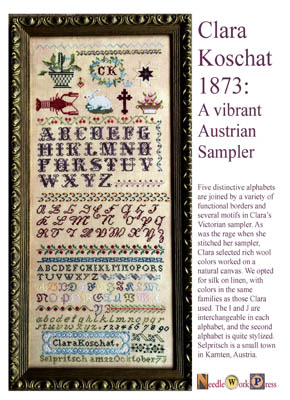 Clara Koschat-1873 Austrian Sampler by Needle WorkPress
