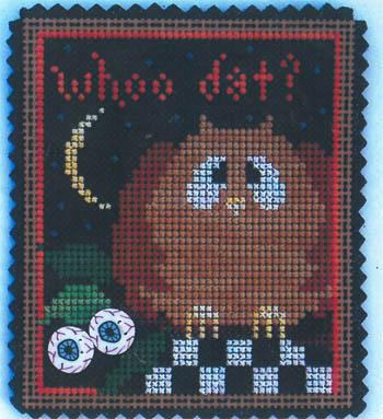 Vals Stuff February Ornament-Whoo Dat