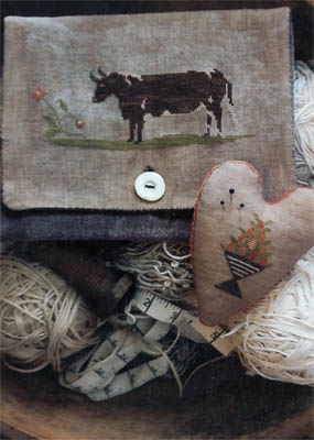 Brown Cow Sampler Bag by Stacy Nash Primitives