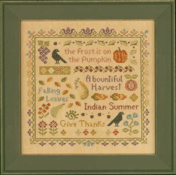 Elizabeth's Designs Needlework Antique Autumn Sampler