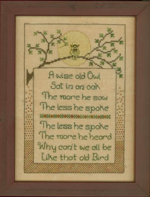 Elizabeth's Designs Needlework Wise Old Owl
