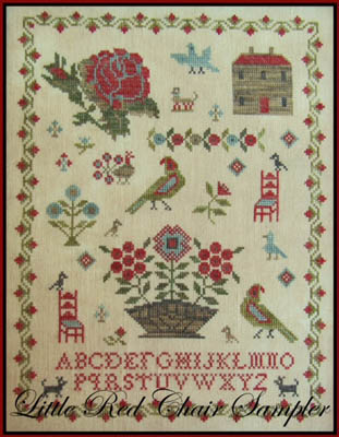 The Scarlet House Little red chair sampler