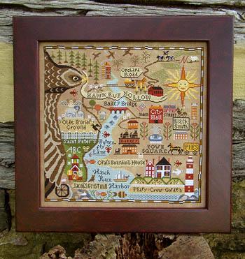 Carriage House Samplings Map Of Hawk Run Hollow