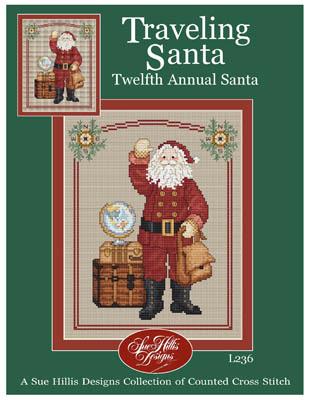 Sue Hillis Designs Traveling Santa