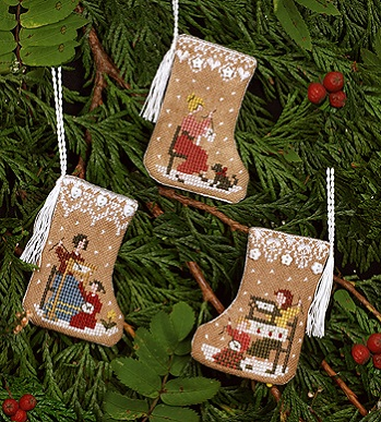 The Victoria Sampler Gingerbread Stocking Ornaments
