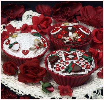 The Victoria Sampler Valentine Cupcakes